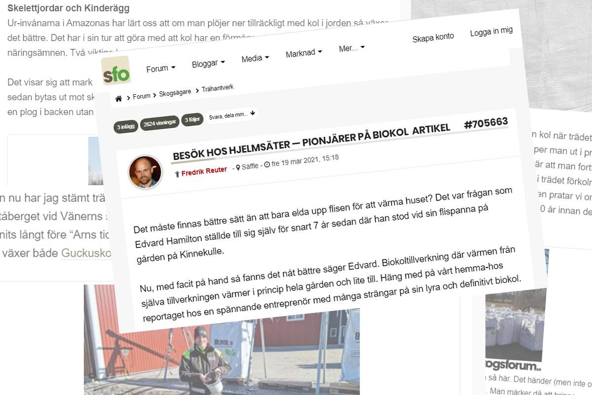 Reportage: Skogsforum | Biokol.se