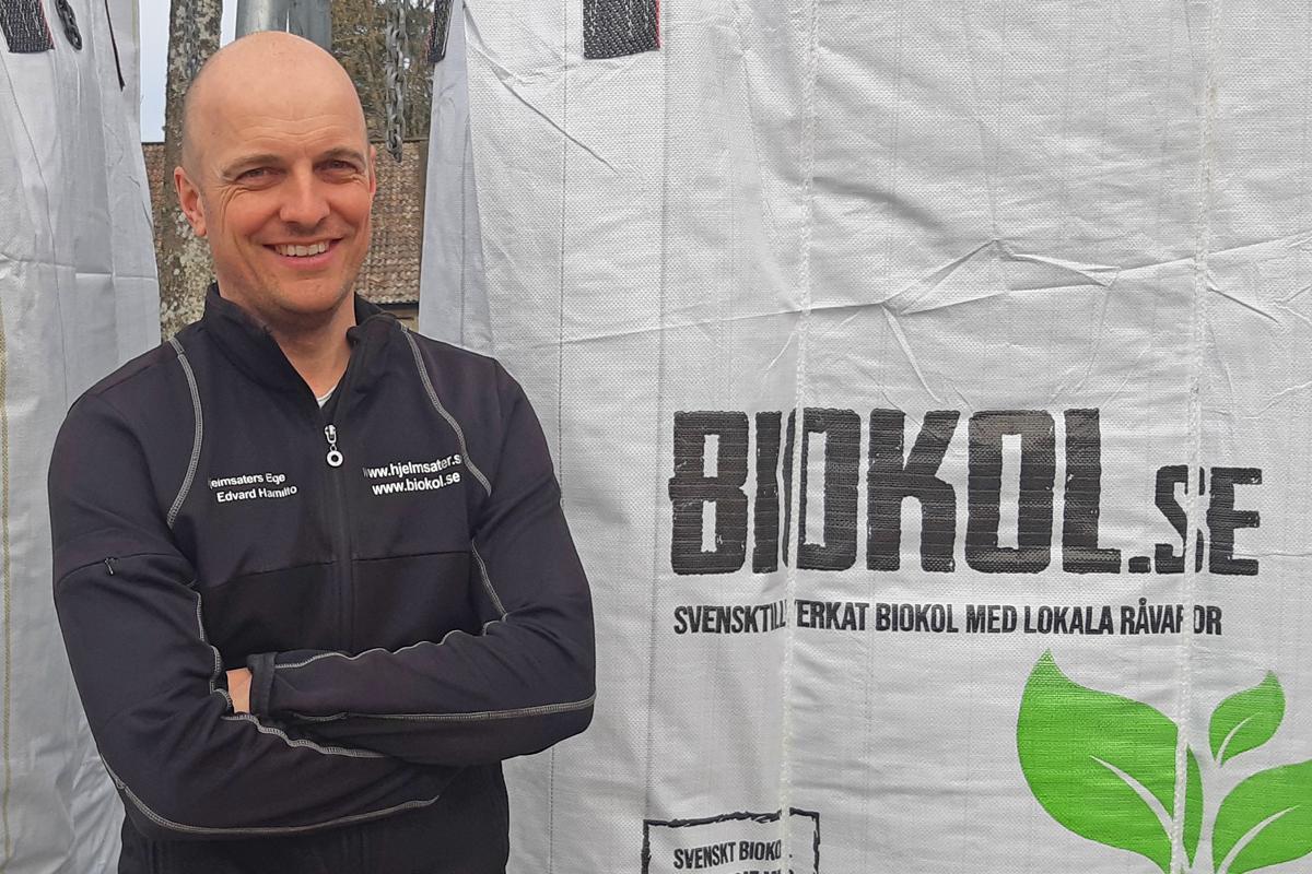 Edvard Hamilton, Hjelmsäters egendom   Biokol.se