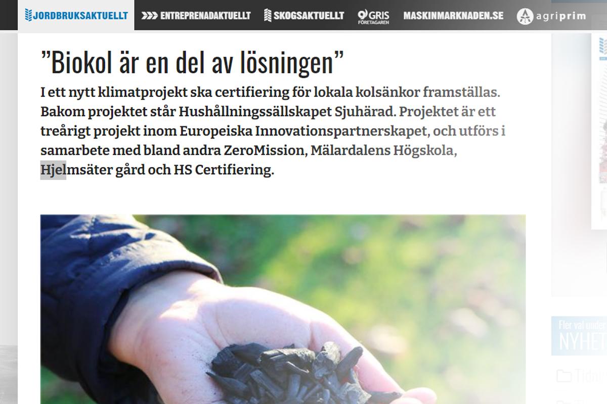 Projekt Hushållningssällskapet Sjuhärad | biokol.se